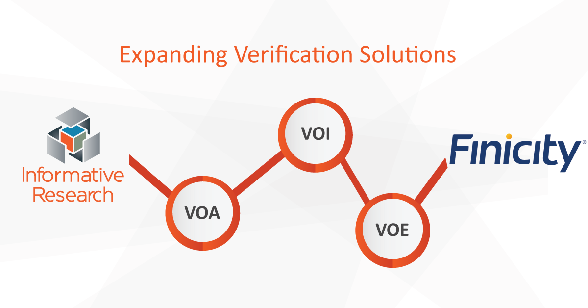 IR Now Offering the Complete Finicity Verification Suite